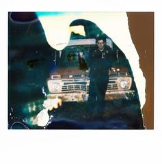 Nineteen (|Digital|Denial|) Tags: polaroidweek roidweek impossibleproject spectra polaroid instantphotography analog polaroidfail faded muted diy ruin rust truck selfportrait dark night punx portrait