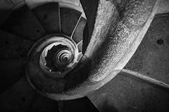 Sagrada Familia staircase (petdek) Tags: architecture nikond70 blackandwhite staircase sagradefamilia