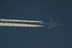 A7-HHM (Rob390029) Tags: qatar airbus a330 a7hhm amiri jet plane aircraft aviation flying flight airborne transport transportation transit blue sky high ott over top contrail contrails trail trails trailing