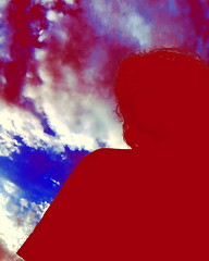 Hell's Heaven (Josu Sein) Tags: sky clouds cloudy storm lowangle backlighting selfportrait surrealism expressionism mystery cinematic instagram selfies psychedelic colorful red highcontrast electric radioactive dreamscape oneiric