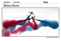 Go Reds!! (Explored) (Donna Rowley) Tags: redarrows winner gypobreak aviation airshow smoke symmetry portrush donnarowley