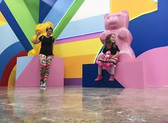 Museum Of Ice Cream - Los Angeles 2017 (evaxebra) Tags: museum ice cream icecream moic museumoficecream art pink installation losangeles la downtown 7th blackmilk leggings rainbow luna minnie mouse dress yellow gummy bear