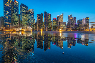 Cityscape Water Reflection