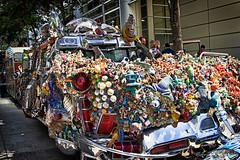 Car full of toys IMG_5615-1 (matwith1Tphotography) Tags: matwith1t canon eos70d 70d 24105mm artcarparade houston downtownhouston outdoors colorful