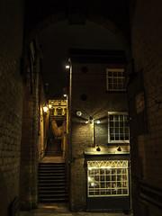 Up n Down-2-Edit (johnholme1) Tags: arcetecture nightscene steps stockport underbank uk