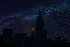 Lights Out New York ([ raymond ]) Tags: buildings manhattan newyorkcity nyc sky skyline 0b5a0804stars milkyway stars universe galaxy night empirestatebuilding chryslerbuilding beautiful