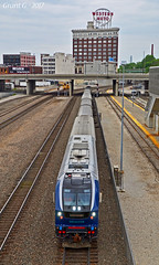 """Westbound Amtrak Special in Kansas City, MO (""""Righteous"""" Grant G.) Tags: amtrak siemens charger train trains passenger test trip special kansas city missouri locomotive power unit union station"""
