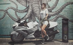Slow down and enjoy everyday. Life goes by way too fast... (Neda Andel ~SLooK4U Blog) Tags: billionaire villena valekoer bike motorbike white moon quote sl secondlife blog fashion style girl