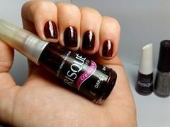 Desafio dos Clássicos #3 - Dara. (Raíssa S. (:) Tags: esmalte unhas nails nailpolish naillacquer nailart red vermelho jelly glitter risqué avon rebu desafiodosclássicos