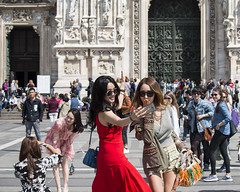 Orient (franco indaco) Tags: street girl glamour girls woman milan milano sexy candidcamera candid duomo