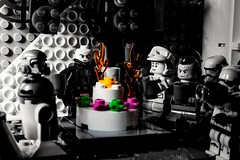 Big party on the Death Star for MM 10 years anniversary (Marco Di Ferrante) Tags: macromonday happy10years darthvader starwars deathstar lego