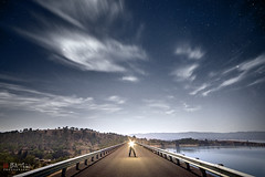 The Dark Road (Bill Thoo) Tags: lakeburrendong burrendong burrendongdam nsw newsouthwales australia rural bush country lake dam reservoir road night landscape nightcap stars sky nightsky longexposure fantasy mystical sony a7rii samyang 14mm