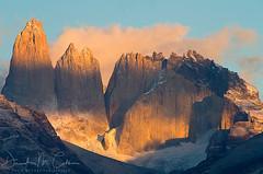 Monoliths (David M. Cobb) Tags: monoliths mountains andes andesmountains chile patagonia spires steep torresdelpainenationalpark morning sunrise peak peaks