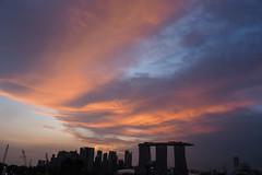 Orange Cloudscape (elenaleong) Tags: marinabarrage sunset cloudscape orangeclouds silhouettes skyline elenaleong