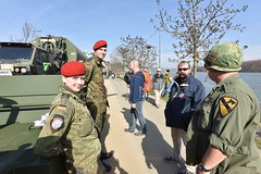 Static display at memorial ceremony (U.S. Army Europe) Tags: nierstein germany worldwar ww2 75strong strong strongeurope amphibious nazivictims kornsand engineers 249th history historic rhine rhineriver usareur armyeurope europestrong