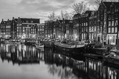 Wall-to-Wall (McQuaide Photography) Tags: amsterdam nederland netherlands holland noordholland europe sony a7rii ilce7rm2 alpha mirrorless 2470mm sonyzeiss zeiss variotessar fullframe mcquaidephotography adobe photoshop lightroom tripod manfrotto light architecture city stad building skyline urban capitalcity canal water reflection canalhouse boat houseboat woonboot boot residential waalseilandgracht oudewaal blackandwhite bw blackwhite mono monochrome longexposure