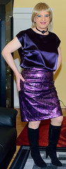 Birgit023974 (Birgit Bach) Tags: skirt rock top satin