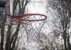Frayed Hoop Dreams (Orbmiser) Tags: basketballhoop 55200vr d90 hoop net nikon oregon outdoors park portland spring basketball sport