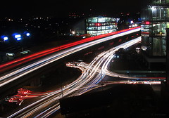 M4 redux (amazingstoker) Tags: light trails stacked a4 brentford section inn audi motorway shapes b445 roundabout premier elevated dealer nylon london night mercedes red road west blue white urban office lines great m4 room 706 busy