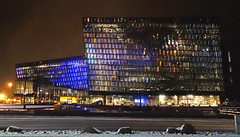 Harpa concert hall (smokykater - 550k+ views) Tags: reykjavik iceland island harpa concerthall concert hall night music glass impressive naked winter snow