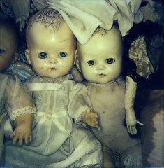 doll babies (bunchadogs & susan) Tags: impossiblecamerai1 dolls fortunacalifornia coloripi1film