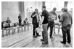 Rehearsal -10 (alh1) Tags: allanharris centralmethodistchurchhall niksilverefexpro pilottheatre thesuffragetteproject yorktheatreroyal readthroughrehearsal eipyork 08042017 bw england northyorkshire york actors choice monochrome