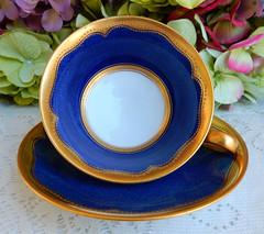 Vintage Copeland Spode Cup & Saucer ~ Cobalt Gold Encrusted (Donna's Collectables) Tags: vintage copeland spode cup saucer ~ cobalt gold encrusted