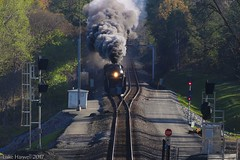 611 Splitting the Signals at Haydock. (lukeharwell) Tags: steamtrain excursion southernrailway roanoke charlotte 484 classj norfolksouthern norfolkwestern