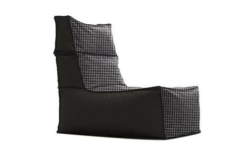 Urban Bean Bag Black and White by Furniture Runway