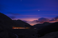 "Venus at ""Rest and be Thankful"" (murphy197) Tags: venus scotland scenic nikond7100 night sky longexposure tokina1116mm anneflaherty lighttrails stars arrochar argyll lochlomond"