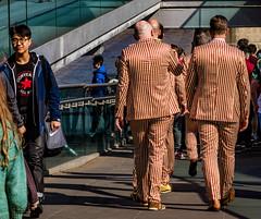 Star And Stripes (Fermat48) Tags: london millennium bridge star stripes suit canon eos 7dmarkii urban