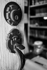 the entrance (BPPrice) Tags: circulatinglibrary books historical chappellhill monochrome handle book texas history library lock antique bw blackandwhite door