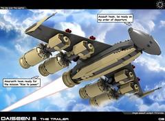 Dai Trailer 03 (messerneogeo) Tags: messerneogeo robot mech mecha lego daiseen iii aldebaran spaceship trailer