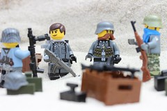 Battle prep (Brick Police) Tags: lego german army ww2 wwii legos minifigures