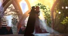Avilion Nexus - Camelot - Wedding Lady Vyahen and Sir Bardy (Osiris LeShelle) Tags: secondlife second life avilion nexus camelot wedding ceremony medieval fantasy roleplay bardy vyahen reception