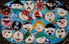 Pirate biscuits (Yersinia) Tags: cake yersinia pirates boat submarine yellowsubmarine fish seaweed ariel littlemermaid mermaid