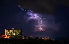 Lightning1 (Austyn Terrio) Tags: lightning purple longexposure electricity shock strike night dark light zigzag florida louisiana astphotography storm daytonabeach
