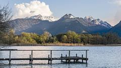 Le ponton du bout du bout (liofoto) Tags: canon eos6d sigma2470 lac annecy ponton couleurs colors printemps spring montagnes nuages clouds eau water