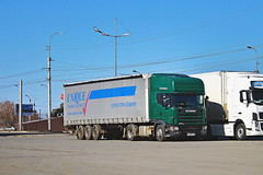 Scania 144L  M 630 MA 45 (RUS) (zauralec) Tags: kurgan shoppingcenterhypercityгиперсити город курган улица автомобиль грузовик г scania 144l m 630 ma 45 rus