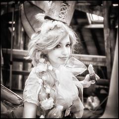 2017-107 Faerie Girl (Darren Wilkin) Tags: faerie girl portrait infrared chathamhistoricdockyard festivalofsteamandtransport squarecrop oneaday 365 ethereal
