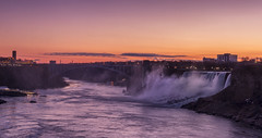 American Niagara Falls at Dawn--EXPLORED (Cindy Farr-Weinfeld) Tags: niagara niagarafalls americanniagara american waterfall waterfalls water sky clouds river dawn early landscape scenic canada beautiful