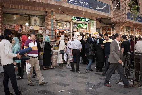 In the street of Tehran