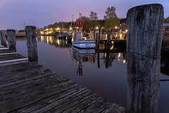 Der alte Fischereihafen in Gothmund (2500teu) Tags: ostsee lübeck luebeck bluehour blauestunde hafen fischerei stillife reflection spiegelung boot schiff