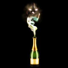 Flaschengeist (Stiller Beobachter) Tags: bottle smoke genie demon