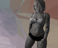 """""""Now and then I think of all the times you screwed me over..."""" (Hunnie.VonM) Tags: facade tattoo tattoos secondlife sl avi avatar fashion addams magika somebodythatiusedtoknow belleza lelutka catwa maitreya omega"""
