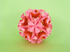 С Днем Рождения, Наташа!! (masha_losk) Tags: kusudama кусудама origamiwork origamiart foliage origami paper paperfolding modularorigami unitorigami модульноеоригами оригами бумага folded symmetry design handmade art