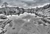 On the trail to Preikestolen (ruminate) Tags: preikestolen norway travel pulpitrock hiking outdoors nikon nikond90 tonemapped reflection pond grayscale