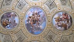 Le plafond de la salle de bal du Casino Nobile (Villa Torlonia, Rome)
