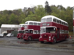 Edinburgh Titans (routemaster2345) Tags: bus museum vintage edinburgh day may scottish running corporation orion alexander titan leyland mcw lathalmond pd2 2013 pd3 svbm