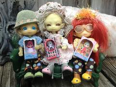 Firefly Fairy Sisters Phaedra, TiGGy & VampFae Sageling w/ Their Blythe Dollies